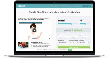 Samla dyra lån och krediter via Advisa