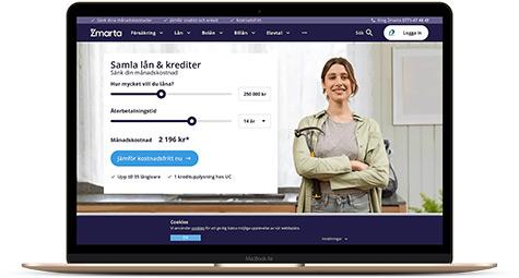 Samla dyra lån och krediter via Zmarta